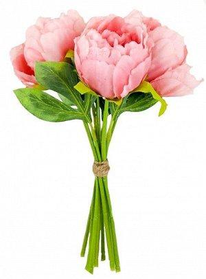 Декор Букет пионов розовый 26см  пластик, текстиль 2001249671066