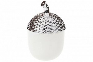 Шкатулка Желудь серебро 19см керамика 2001249648495