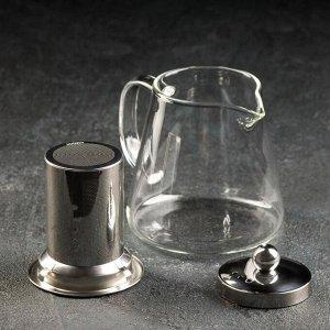 Чайник заварочный «Эгла», с металлическим ситом, 600 мл
