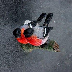 "Подвесной декор ""Снегири на ветке"" 15х12х12см"