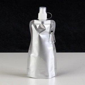 """Фляжка мягкая с карабином """"Классика"""", 450 мл, 10х26.6 см"""