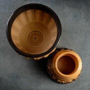 """Горшок цветочный """"Мариэтта 2"""" коричневый 5,5л"""