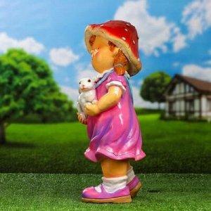 """Садовая фигура """"Девочка с кроликом"""""""
