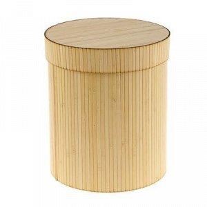 """Коробка подарочная """"Шляпная"""", бамбук, белая, 25 х 30 см"""