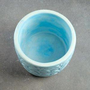 Кашпо Шале VipSet 1,25л голубой
