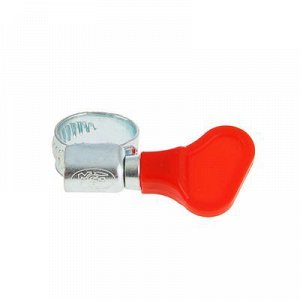 Хомут червячный с ключом MGF, диаметр 10-16 мм, оцинкованный