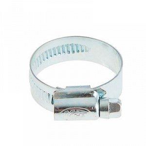 Хомут червячный MGF, диаметр 20-32 мм, ширина ленты 12 мм, оцинкованный