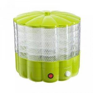 Сушилка для овощей и фруктов ENERGY EN-552, 230 Вт, 5 поддонов, зеленая