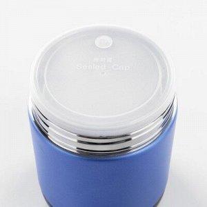 """Термос для еды """"Практик"""", 1.5 л, 2 тарелки, ложка, соxраняет тепло 12 ч, 21x13 см, микс"""
