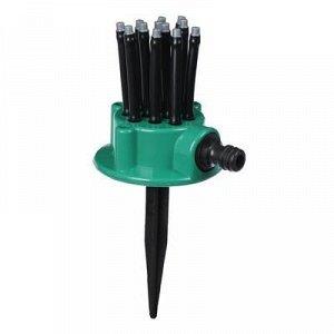 Распылитель-дождеватель, 12 форсунок, под коннектор, пика, пластик