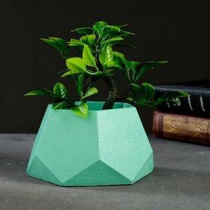 Кашпо Шестиугольник 13 х 7,5 см зелёный