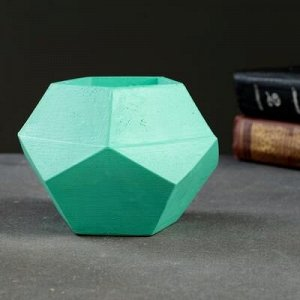 Кашпо Пятиугольник 12 х 9 см зелёный