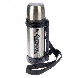 Термос 1000 мл Penguin, туристический, с регулируемой ручкой, 24 ч, хром, 12х30 см
