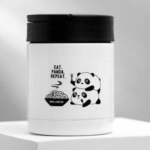 """Термос для еды """"Eat.Panda.Repeat."""", 400 мл, соxраняет тепло 12 ч"""