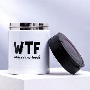 """Термос для еды """"WTF"""", 400 мл, сохраняет тепло 12 ч"""