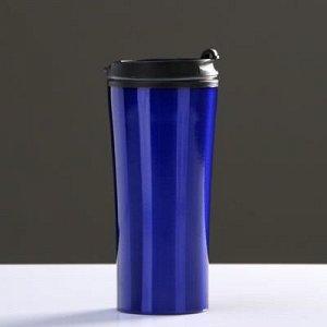 """Термокружка """"Нова"""" 450 мл, соxраняет тепло 2 ч, синяя 7.6x18.4 см"""