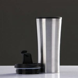 "Термокружка ""Нова"" 450 мл, соxраняет тепло 2 ч, серебро 7.6x18.4 см"