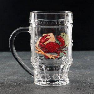 Кружка для пива «Деликатес. Пинта», 500 мл, рисунок МИКС