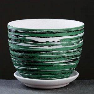 Горшок цветочный ТЕХНО зеленый 1,2 л