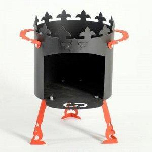 """Печь под казан """"Ронда"""" 2 мм, диаметр 30 см"""