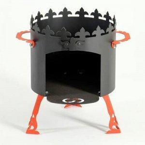 """Печь под казан """"Ронда"""" 2 мм, диаметр 36 см, для казанов 8 - 12л"""