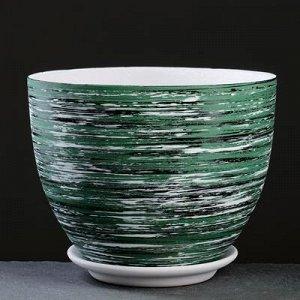 Горшок цветочный ТЕХНО зеленый 3,6 л