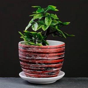Горшок цветочный ТЕХНО красный 0,6 л