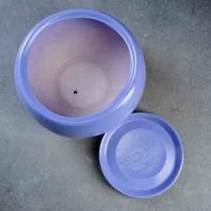 Горшок цветочный Адель 2, 3,5 л, синий