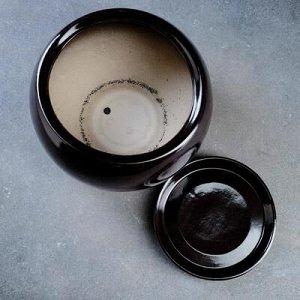 Горшок цветочный Адель 2, 3,5 л, чёрный
