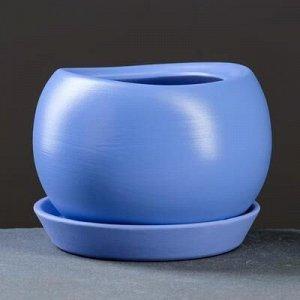 Горшок цветочный Адель 3, 1,2 л, синий