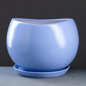 Горшок цветочный Адель 1, 15 л, синий