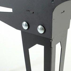 "Мангал ""Техно складной"", толщина 3 мм, 45 х 80 х 90 см"