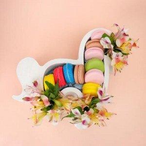 """Пенобокс кашпо для цветов и подарков """"Единорог, пони"""", белый"""
