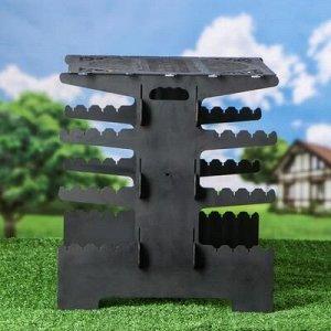 """Мангал складной """"Вертикальный"""", 43 х 35 х 38 см, толщина металла 2 мм"""