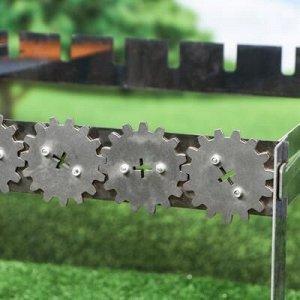 """Мангал складной """"Механический"""", 46 х 42 х 42 см, толщина металла 2 мм, эко коробка"""