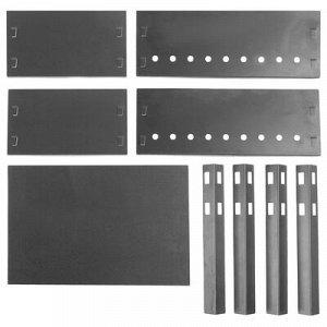Мангал разборный эконом «Сибирский пикник» сталь 0,5 мм, 35 х 24 х 28 см