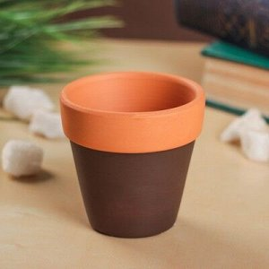 Кашпо керамическое глиняное 6*6*6 см