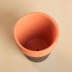 Кашпо керамическое глиняное 8*8*8 см