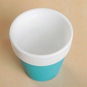 Кашпо керамическое цвет микс 8*8*8 см