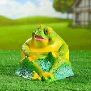 """Садовая фигура """"Лягушка-толстушка сидячая"""""""