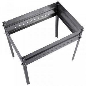 Мангал без шампуров, с рёбрами жёсткости, 50 х 35 х 50 см, сталь 1,5 мм