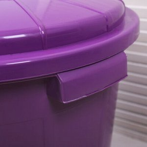 Бак хозяйственно-бытовой «Колор», 40 л, с крышкой, цвет МИКС
