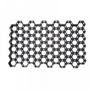 Решётка газонная, 68 ? 41 ? 3,3 см, с колышками, класс нагрузки С250 до 25 т., чёрная