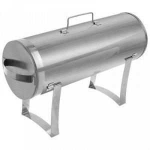 Коптильня круглая одноярусная, с поддоном для сбора жира, 500 х 180 х 180 мм, нержавеющая сталь, 0,5 мм, с сумкой