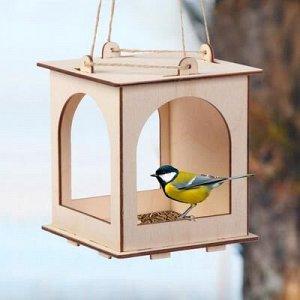 Kopмушка для птиц «Набор №1. Собери и раскрась»