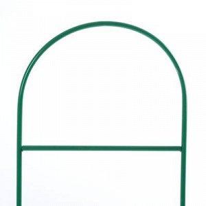 Шпалера, 140 ? 30 ? 1 см, металл, зелёная, «Лестница»