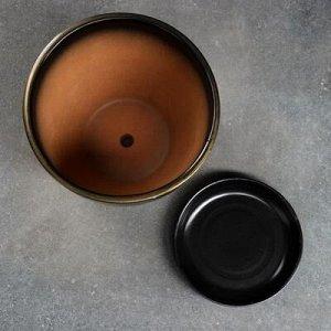 Горшок цветочный Мираж коричнев 2,5 л