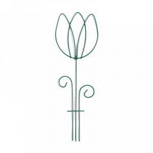 Шпалера, 45 ? 15 ? 0.3 см, металл, зелёная, «Тюльпан»