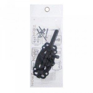 Задвижка дверная ЗД-100-Кр-S, цвет черный матовый
