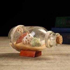 """Сувенир в бутылке """"Ракушки"""" 12*6*6см, микс"""